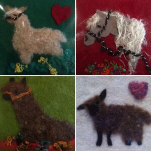 Hand Crafted Needle Felted Animal Pictures