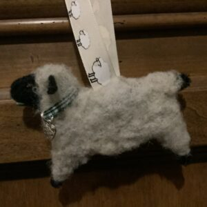Needle Felted Sheep and Alpaca Ornaments